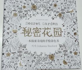 秘密花园 一本探索奇境的手绘涂色书