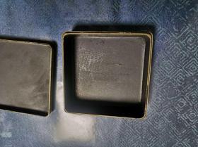 清供博古纯铜墨盒