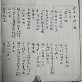 痘疹汇通~~手抄卷两册