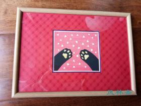 大野隆司小版画 治愈系猫咪5 雪中猫爪  木板水印套色画