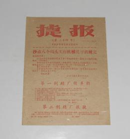 1959年捷报第二十四号 沙市市委办公室编 16开