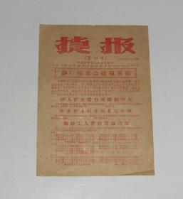 1959年捷报第四号 沙市市委办公室编 16开