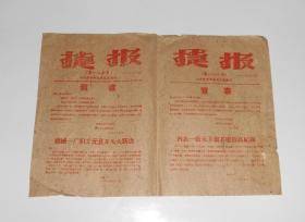 1960年捷报第一二七,一二八号  沙市市委办公室编 16开