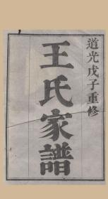 江苏苏州 太原王氏续修家谱 族谱 家乘 宗谱(复印本)