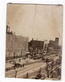 民国报纸图片类----民国原版老照片1930年前后时间,日本国内城市2