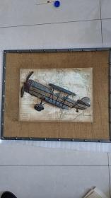 一战大型法国斯帕德SPAD双排座双翼战斗机飞机模型(纯铜焊接))(美观漂亮大器)