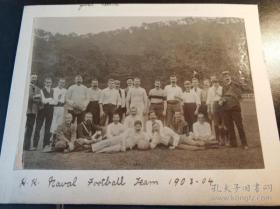 清末香港海军足球队老照片共两张