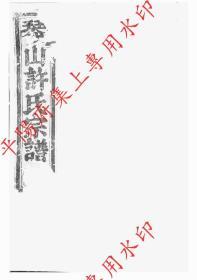 浙江诸暨 暨阳琴山许氏宗谱 族谱 家谱 家乘(复印本)