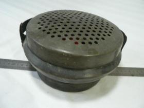 清代纯铜暖手炉