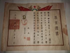 1951年北京市第四区成人补习学校毕业证书