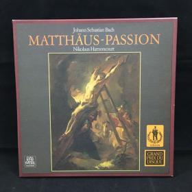 古典音乐黑胶唱片:一盒四张全《巴赫作品》 Bach:MATTHAUS-PASSION Nikolaus Harnoncourt七八十年出版 大33转  品好