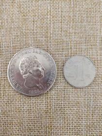 银币 硬币 1824 撒丁王国 5里拉