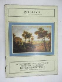 Sothebys Seventeenth,Eighteenth and Nineteenth Century British Paintings(苏富比17-19世纪英国绘画目录)