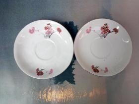 景德镇瓷碟2个