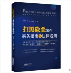 2019年新书 扫黑除恶案件实务指南与法律适用 路浩天 周斌 王继涛 中国法制出版社