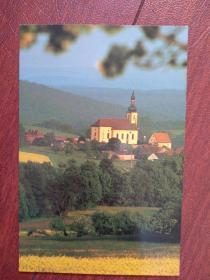 瑞士风光明信片2一张,(空白)