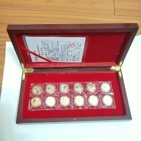 生肖马纪念金币。共12枚。每枚面值50元。上海造币厂制作。全新没开封。