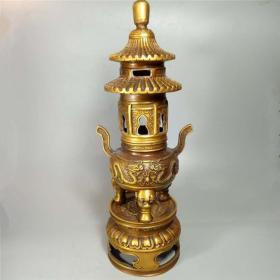 铜器天坛香炉香薰炉风水摆件