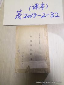 现代国民基本知识丛书 第三辑 中国语文研究  书品如图 ,缺少封面封底