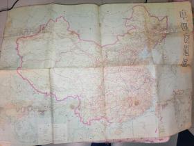 中国交通图•中国铁路路线示意图----1974年二版二印
