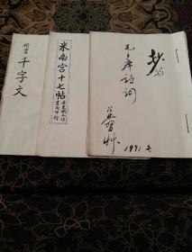 李占林临帖(3册)
