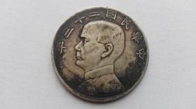 银元;中华民国23年孙像、帆船;1元、一元、壹圆(包老包真)