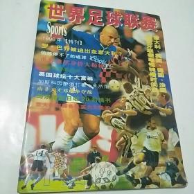 世界足球联赛1996年特刊,右下角有褶皱,稍残,但完整不缺页