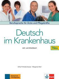 德国原版 医用德语教材 医生和护士职业德语教科书 Deutsch im Krankenhaus Neu: Berufssprache für Ärzte und Pflegekräfte. Lehr- und Arbeitsbuch 课本和练习册 德文
