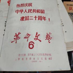 革命文艺6(热烈庆祝中华人民共和国建国二十周年)