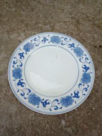 景德镇人民瓷厂25厘米青花瓷盘