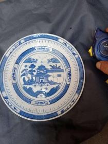 景德镇人民瓷厂梧桐青花瓷盘(直径20厘米)