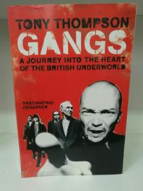 英国黑社会研究 Gangs :A Journey Into the Heart of the British Underworld by Tony Thompson (英国研究)英文原版书