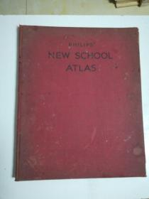 PHILIPS.NEW.SCHOOL.ATLAS新学校阿特拉斯(布精)1944年版12开
