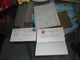 1949年外国实寄封一件:寄给浙大郑晓沧的【信封邮戳清晰。信札内容详见图示,稀见珍贵】