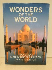 100处最伟大的人类文明遗产 Wonders of the world:101 Great Man-Made Treasures of Civilization 大型全彩画册 (文明遗产)英文原版书