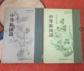原版 中等新国语 二/三(2本合售)/石森延男 昭和54年