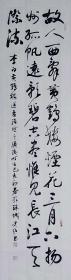 【保真】知名书法家史超草书条幅:李白《黄鹤楼送孟浩然之广陵》