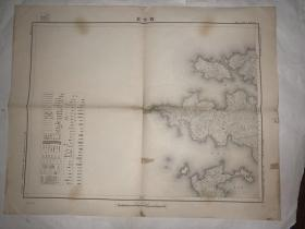 日本老地图 西古见