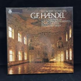 收藏级古典音乐黑胶唱片:一盒三张全 带解说一本《享德尔作品:12大协奏曲》George Friedrich Handel:12 concerti grossi,op.6七八十年出版 大33转  品好