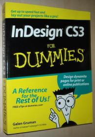 英文原版书 InDesign CS3 for Dummies (For Dummies (Computers))  Galen Gruman  (Author)
