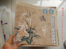 中国名花工笔线描画谱:百合