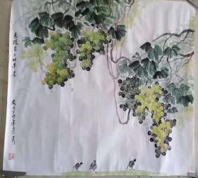 葡萄-果蔬国画 原画 原作