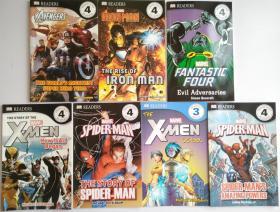 DK readers漫威系列儿童百科 Marvel 蜘蛛侠X战警等7本56元包邮
