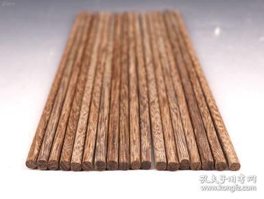 未使用品《原包漿椰子木制筷子9雙》天然木質紋理不一 精美漂亮 寓意九九十成 單枚尺寸長25X0.6X0.6CM