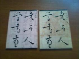 老年人学书画(山水篇+书法篇)2本合售