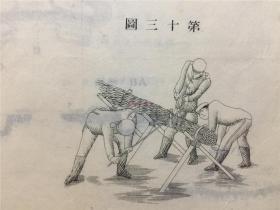 清末明治时期军事资料:露营野炮炮台断工程图、火工结、炮轮图等,约十余张图纸露营野炮炮台断工程图、火工结、炮轮图等,约十余张图纸