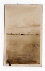 民国报纸图片类----民国原版老照片--1930年前后时间,日本海港码头1