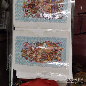 (56年杨柳青年画门神一对(有版权52#38CM