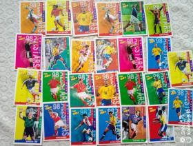 小虎队干脆面 球星卡片(26张)