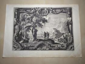 法国17世纪精品铜版画——摩西渡红海